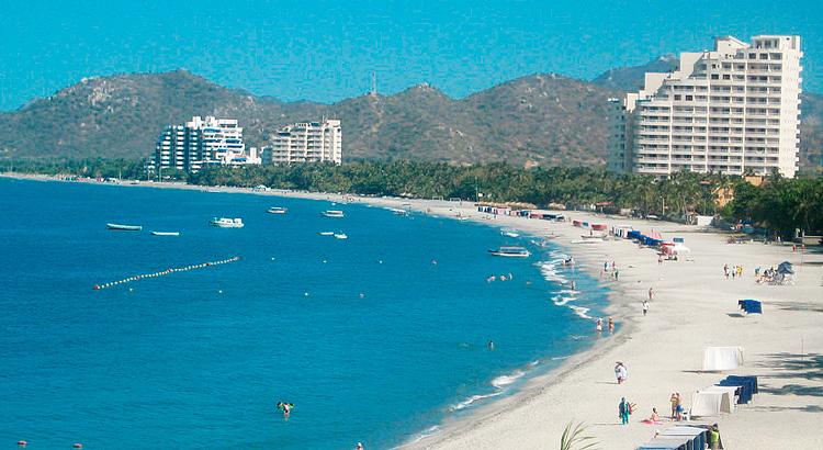 Пляж Эль-Родадеро в Санта-Марта