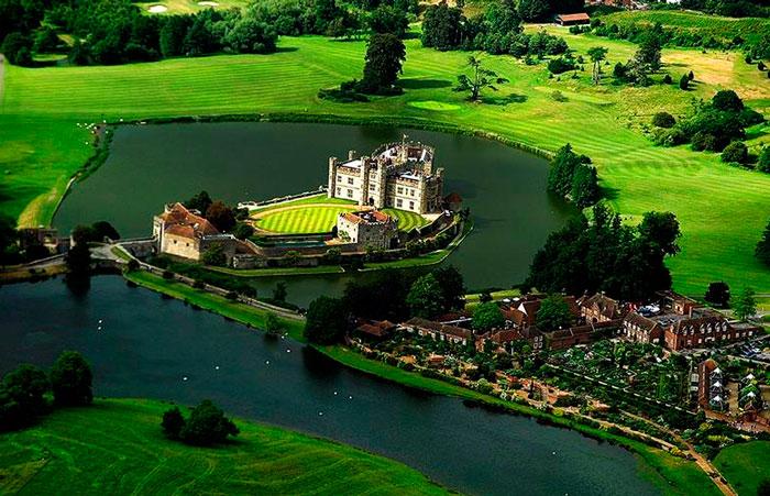 Замок Лидс с высоты