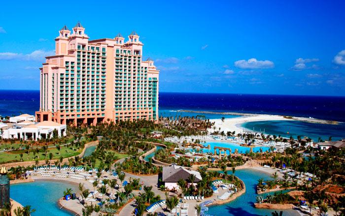 роскошный курорт на Багамах