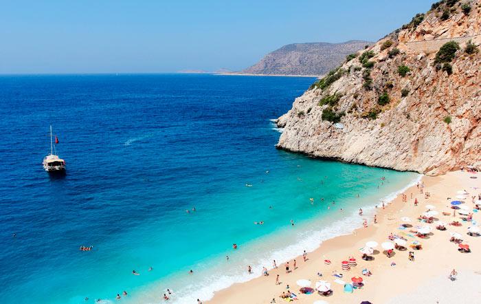 Самые лучшие пляжи в Турции: Капуташ