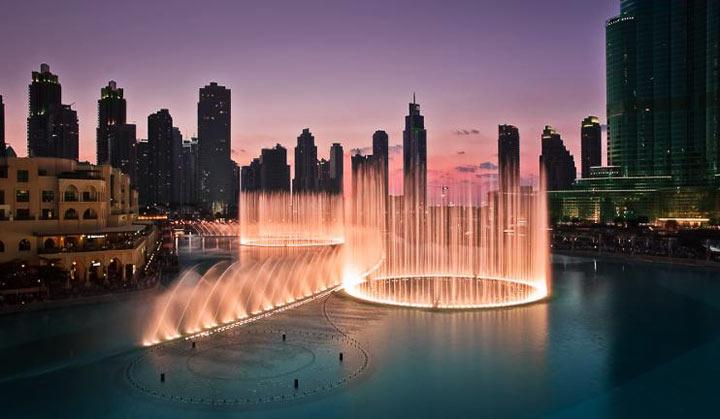 Достопримечательности Дубая: Фонтан
