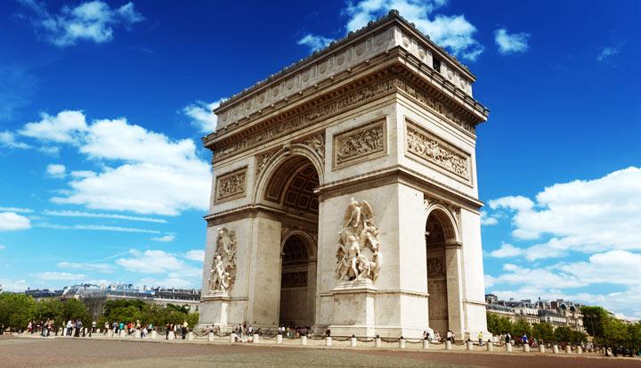 Достопримечательность Парижа: Триумфальная арка