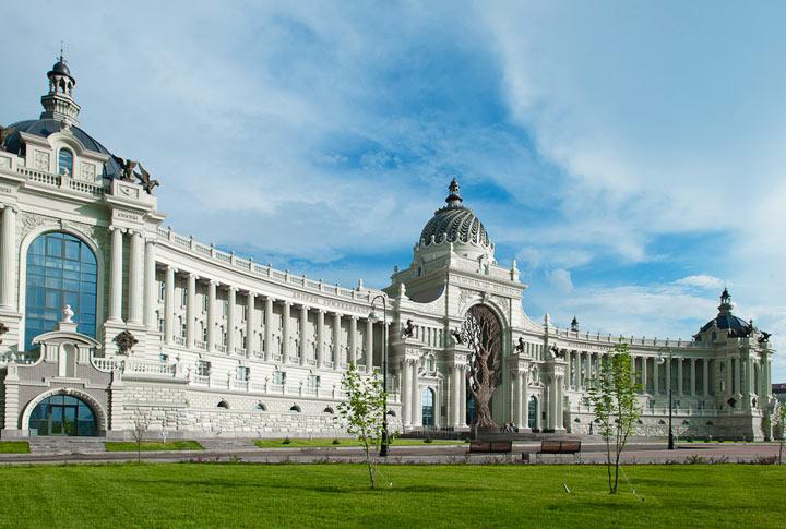 Красивый дворец в Казани
