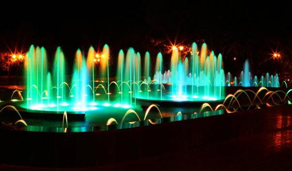 Красивое место Самары ночью