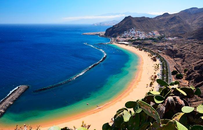 Пляж на острове Тенерифе