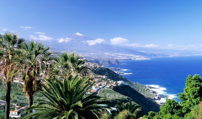 Красивый пейзаж на Тенерифе