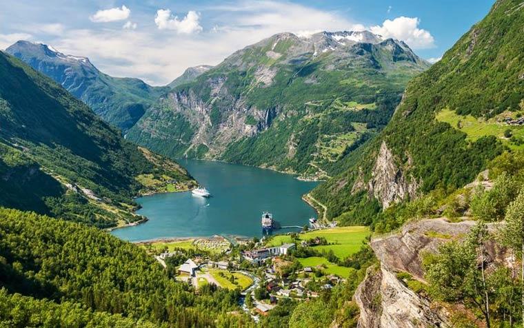 Достопримечательности Норвегии: Гейрангер-фьорд