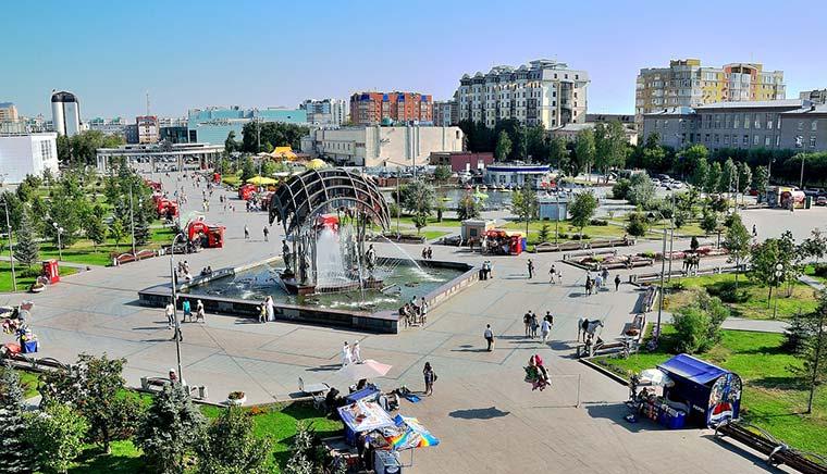 Цветной бульвар - достопримечательности Тюмени
