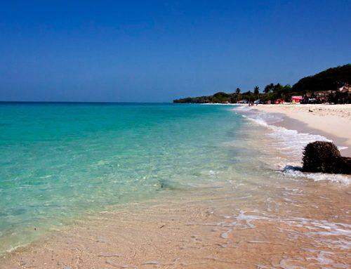 Пляж Плайя Бланка в Картахене. Колумбия