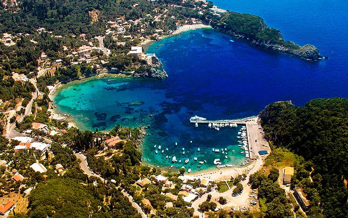 Палеокастрица на острове Корфу