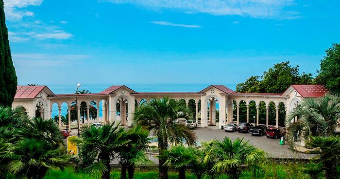 Гагрская колоннада в Абхазии