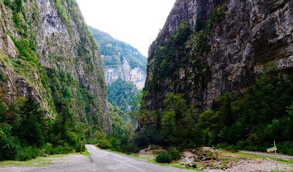 Экскурсия по Абхазии. Yupsharskij-kanon
