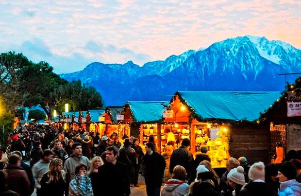 рождественский рынок в Монтрё