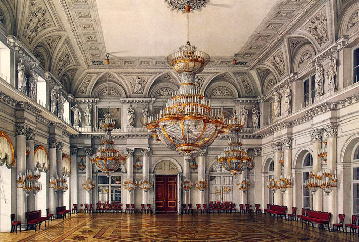 залы зимнего дворца