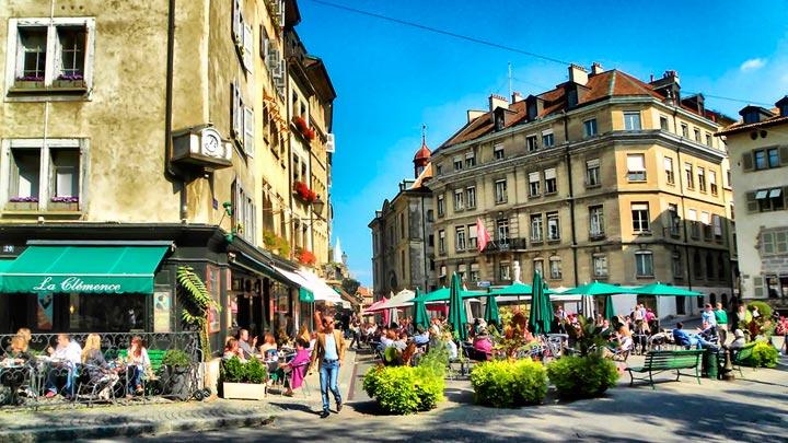 Главные достопримечательности в Женеве: Площадь Бург-де-Фур