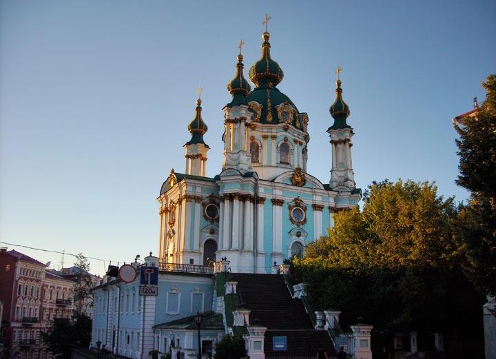 Достопримечательности Киева: Андреевская церковь