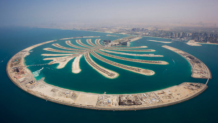 Ostrov-Palma-Dubai
