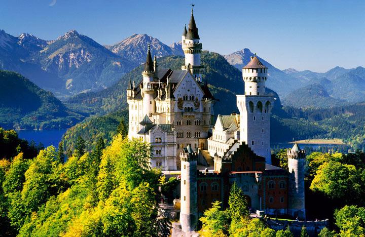 Красивые места в Германии: Нойшванштайн