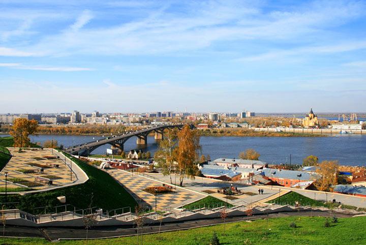Красивое место в Нижнем Новгороде: Набережная Федоровского