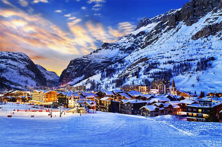 Отличный горнолыжный курорт во Франции