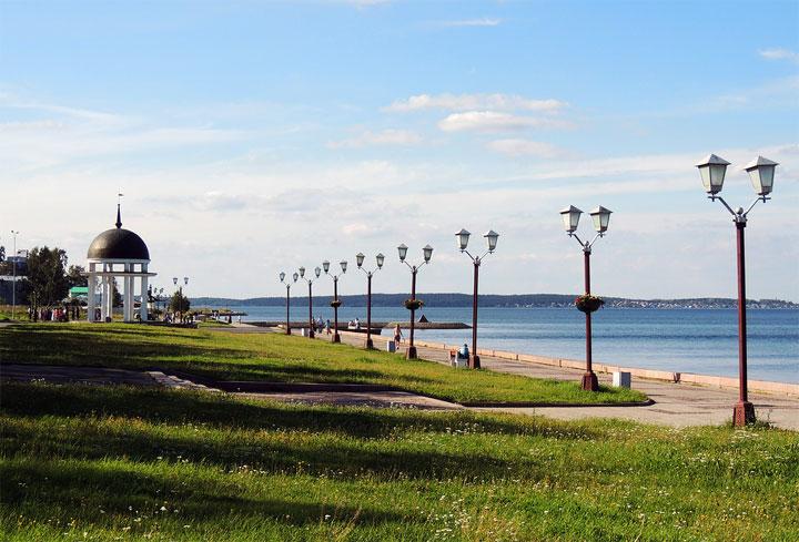 Достопримечательности Петрозаводска: Онежская набережная