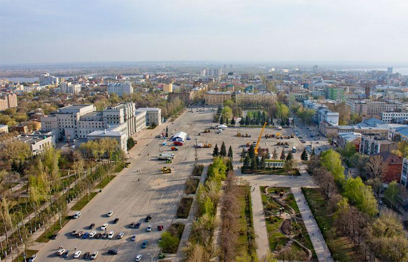 Достопримечательности Самары: Площадь Куйбышева