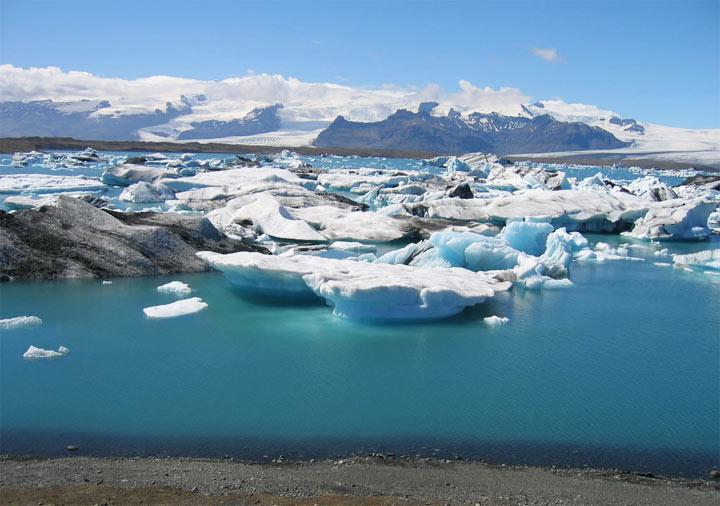 Озеро Йёкюльсаурлоун в Исландии