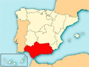 Регионы Испании на карте